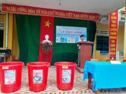 Liên đội THCS Nguyễn Hiền  tổ chức Lễ phát động hưởng ứng làm cho Thế giới sạch hơn