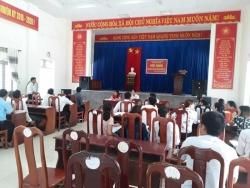 BCĐ HĐH xã Tam Vinh tổ chức Hội nghị tổng kết hoạt động hè năm 2018