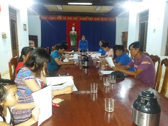 Đoàn xã Tam Lộc tổ chức tổng kết Tháng thanh niên;  sơ kết công tác Đoàn và phong trào thanh thiếu nhi Quý I năm 2018