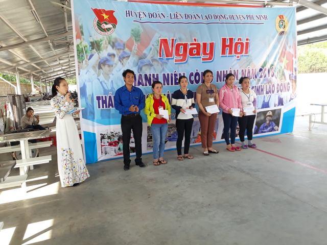 Huyện đoàn, Hội LHTN huyện Phú Ninh  phối hợp tổ chức Ngày hội Thanh niên công nhân năm 2018