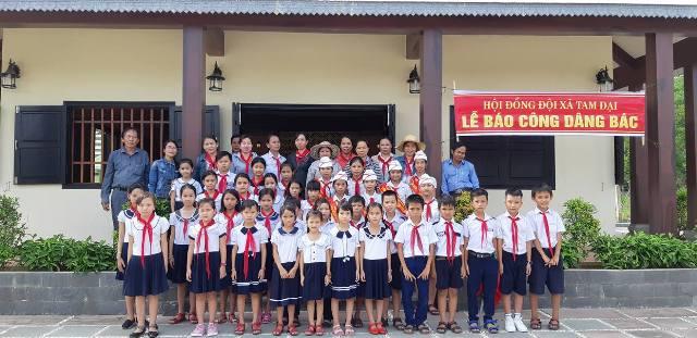Hội đồng đội xã Tam Đại tổ chức Lễ báo công dâng Bác năm học 2017 - 2018.
