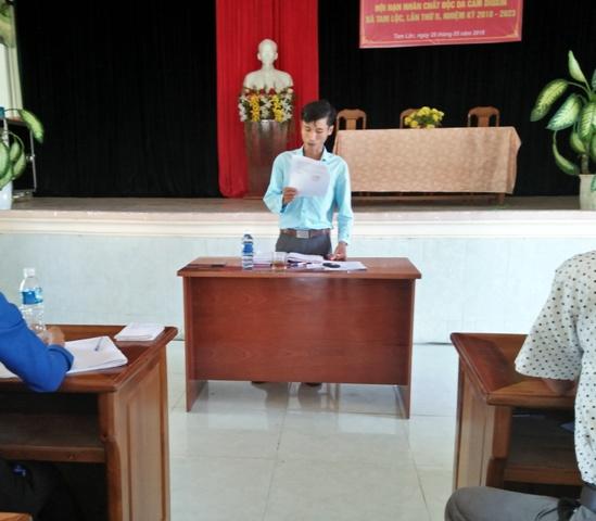 Ban chỉ đạo hoạt động hè xã Tam Lộc  triển khai kế hoạch hoạt động hè năm 2018