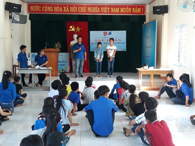 Đoàn thị trấn Phú Thịnh tổ chức tập huấn công tác Đoàn – Hội năm 2018