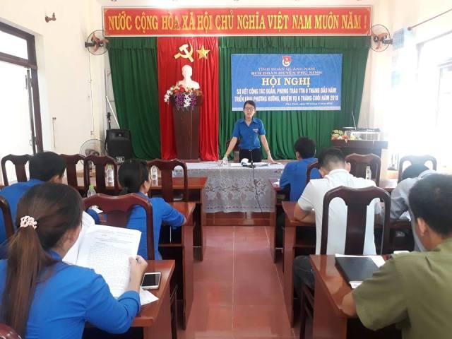 Huyện đoàn Phú Ninh tổ chức Hội nghị sơ kết  6 tháng đầu năm; Tổng kết cuộc thi trực tuyến tìm hiểu Nghị quyết Đại hội đoàn các cấp và 6 bài học lý luận chính trị của Đoàn