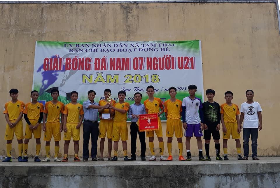 Tam Thái: Tổ chức giải bóng đá thanh niên U21 hè năm 2018