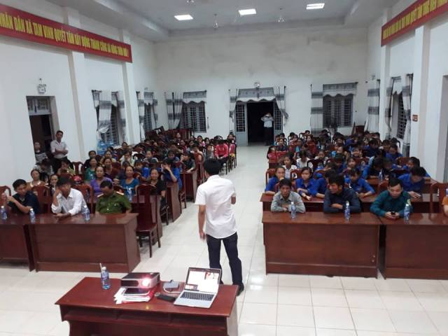 Đoàn xã Tam Vinh phối hợp trong công tác tuyên truyền,  phòng chống tệ nạn ma túy