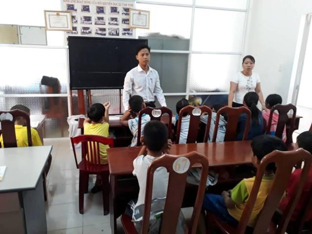 Lớp học Văn hóa hè tại TT Học tập cộng đồng xã Tam Vinh