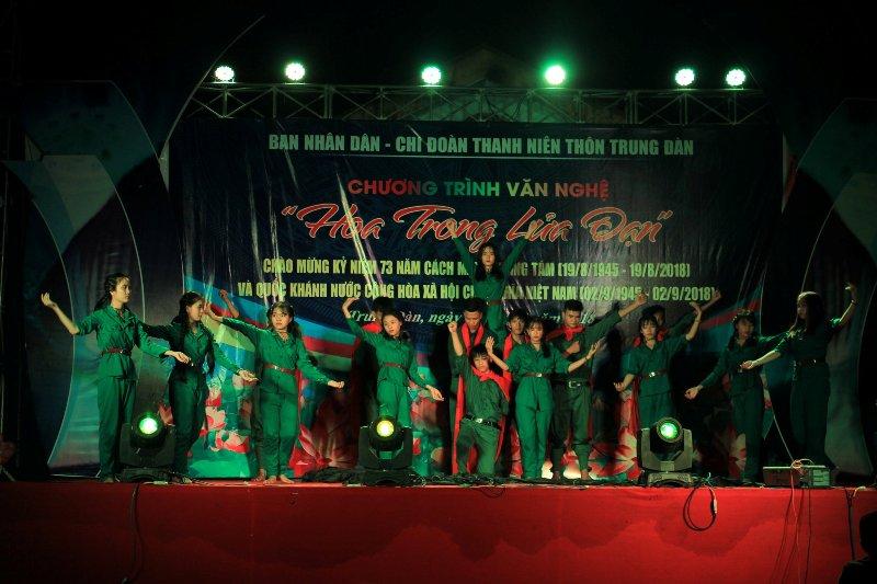 Tuổi trẻ Tam Đại tổ chức văn nghệ kỷ niệm 73 năm cách mạng tháng Tám và quốc khánh nước cộng hòa xã hội chủ nghĩa Việt Nam (02/9)