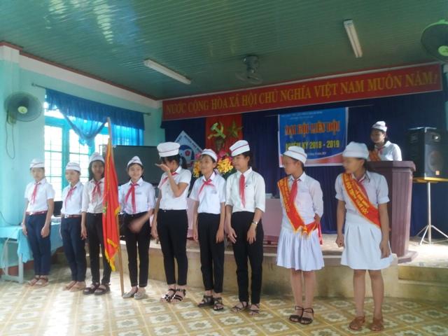 Liên đội trường THCS Tam Lộc tổ chức Đại hội liên đội năm học 2018-2019