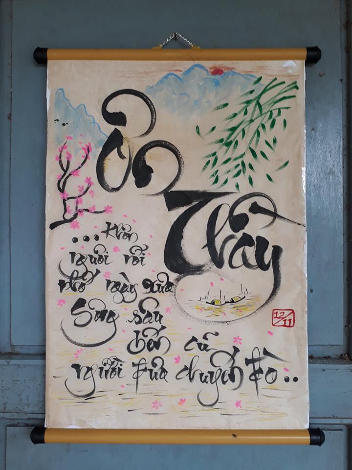 Đoàn trường Trần Văn Dư: Tổ chức Hội thi viết thư pháp cấp trường lần thứ nhấtchào mừng ngày Nhà giáo Việt Nam 201/11.