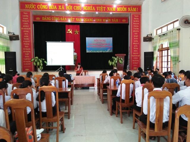 Liên đội THCS Tam Lộc tổ chức các hoạt động cho thiếu nhi