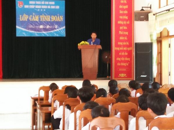 Đoàn xã Tam Lộc tổ chức lớp cảm tình đoàn năm 2019